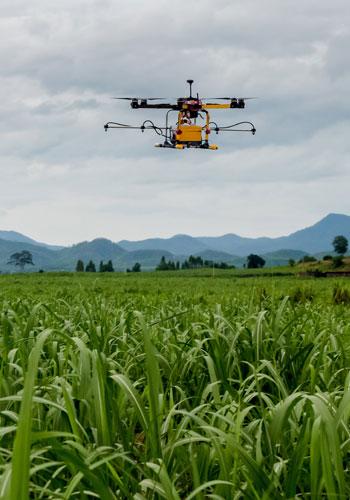 Les drones, la terre vue du ciel